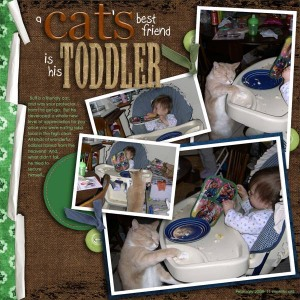 A Cat\'s Best Friend Is His Toddler