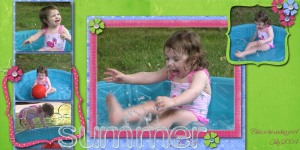 Natalie in the wading pool- 2003