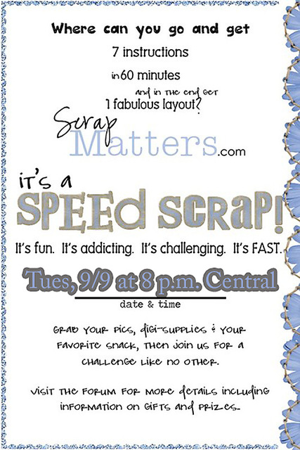 Speed Scrap Tuesday night!