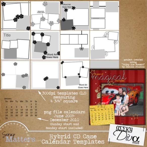Hybrid CD Case Calendar 600