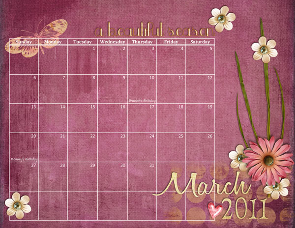 I made a lovely calendar page, if I do say so myself: That's it from me!